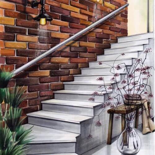 De trap | Interior Sketch