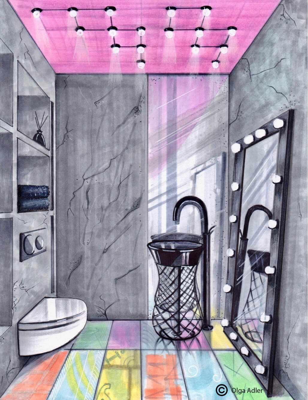 Kunst WC | Interior Sketch