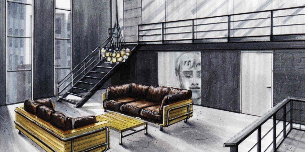 Loft   Interior Sketch