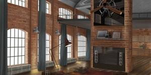 oud pakhuis als bibliotheek / leeszaal | Interior Sketch