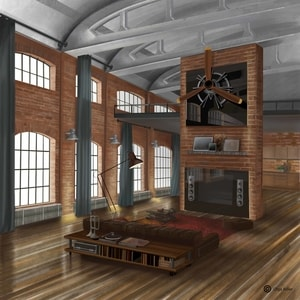 Pakhuis | Interior Sketch