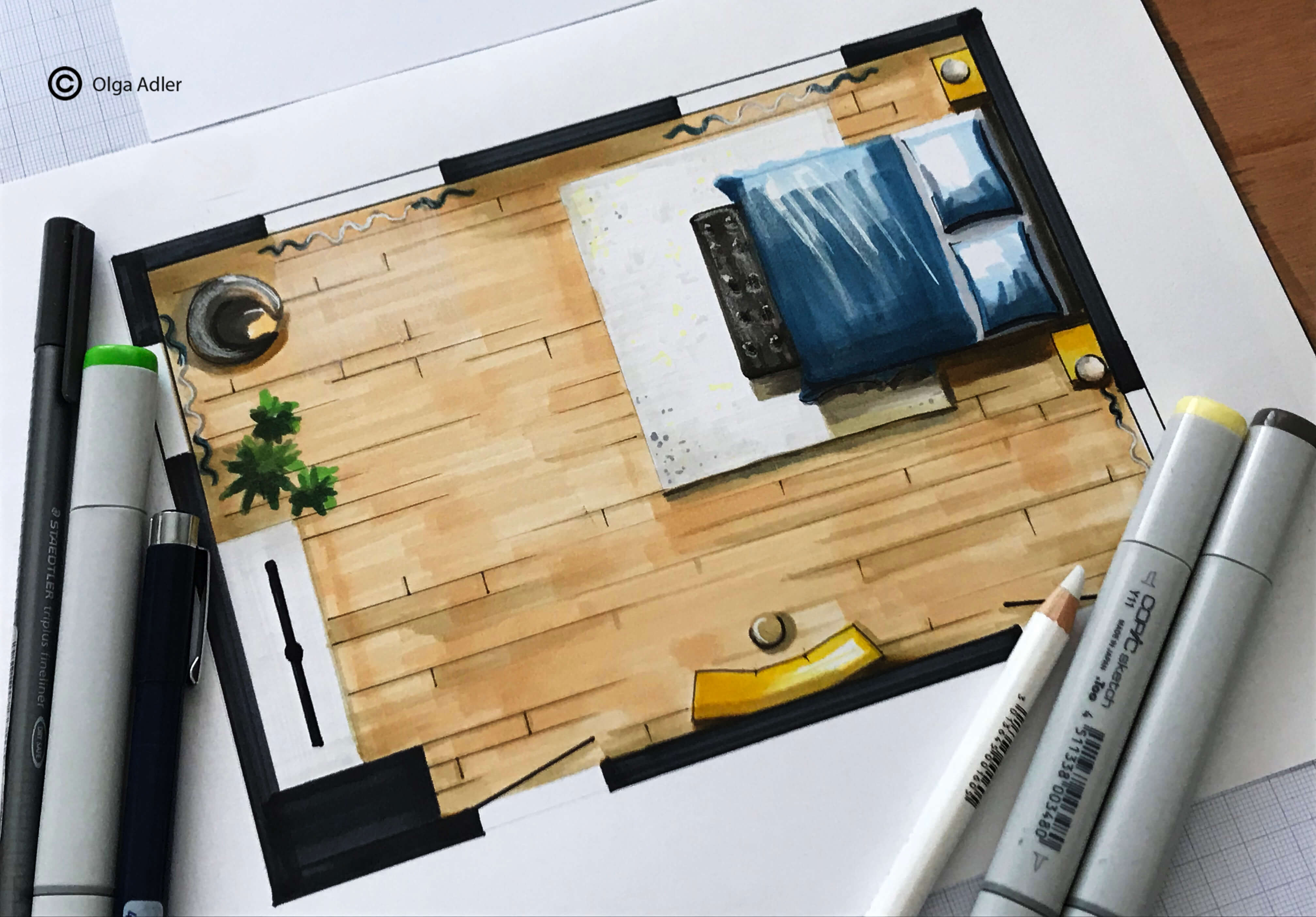 Plattegrond | Interior Sketch