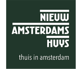 Logo Nieuw amsterdams huys thuis in amsterdam